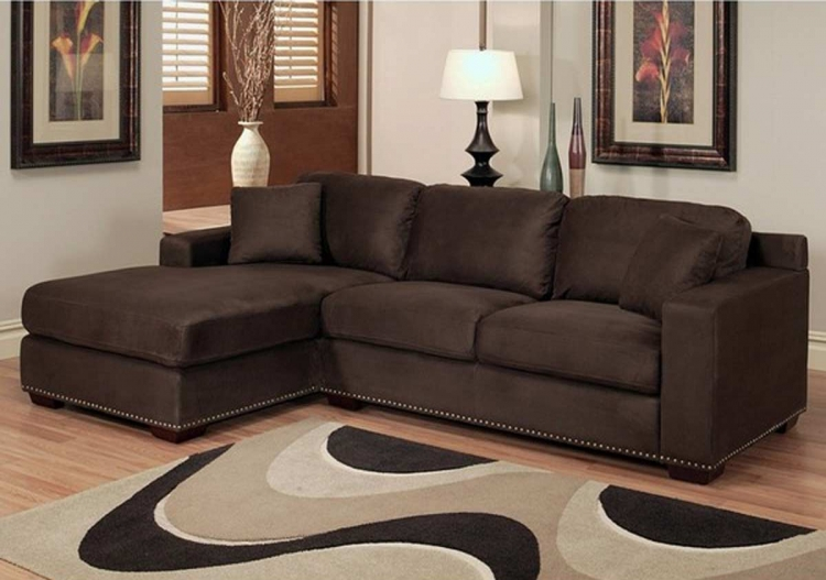 Monrovia Dark Brown Sectional Sofa - Abbyson Living