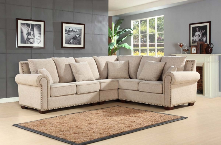 Santa Barbara Fabric Sectional - Abbyson Living