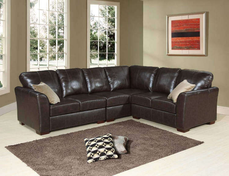 Florence Italian Leather Sectional - Abbyson Living