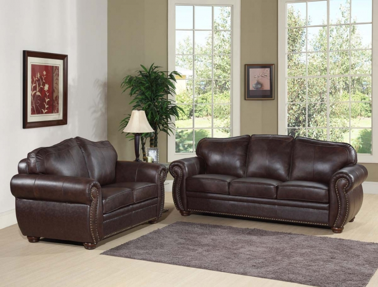 Richfield Premium Italian Leather Sofa and Loveseat - Abbyson Living