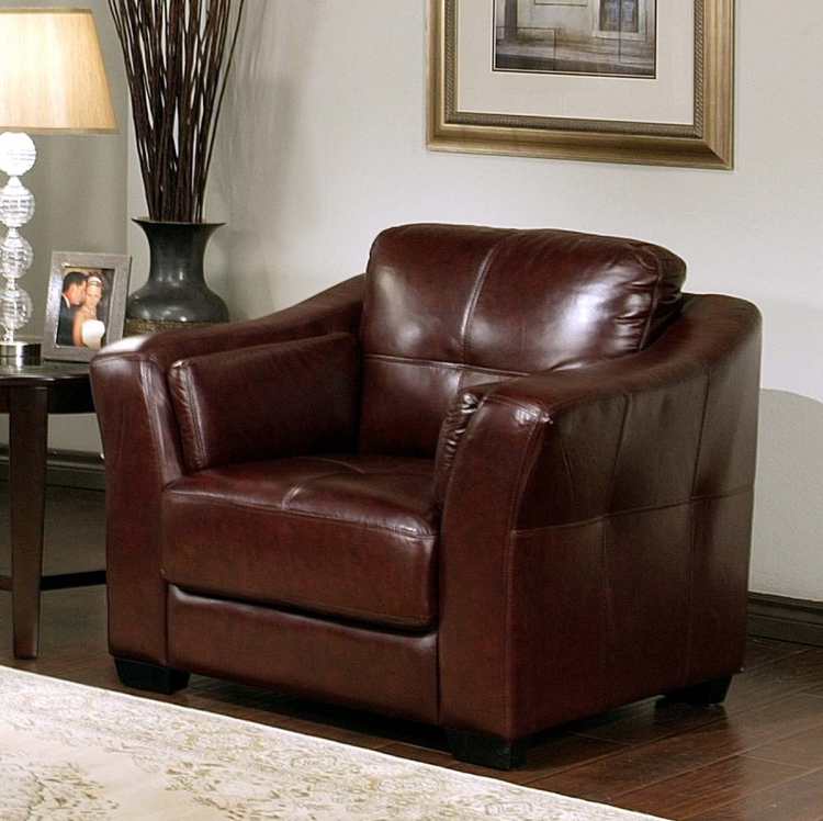 Torrance Italian Leather Armchair - Abbyson Living