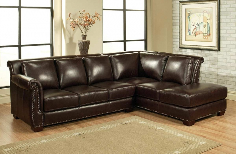 Glendale Italian Leather Sectional Sofa - Abbyson Living