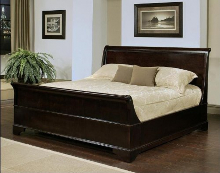 Kingston Espresso Sleigh Bed