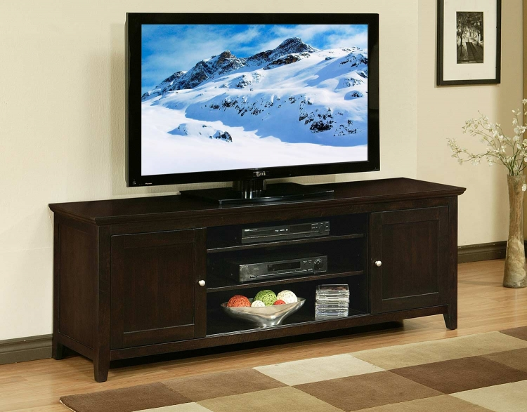 Cassie 72-Inch Solid Oak Wood TV Console