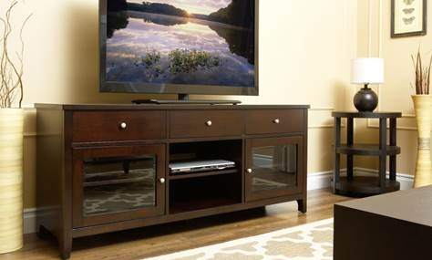 Aussie 64-Inch Solid Oak Wood TV Console