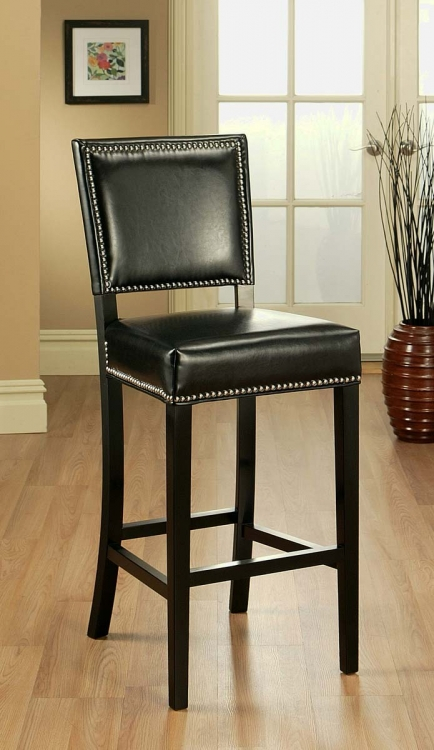 Napa Brown Bicast Leather Bar Stool