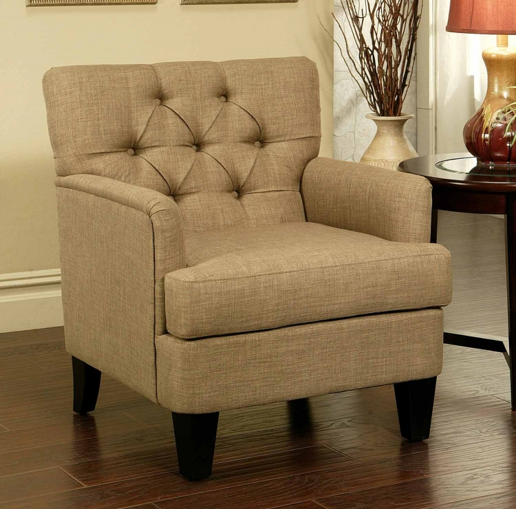 Freemont Tufted Fabric Club Chair