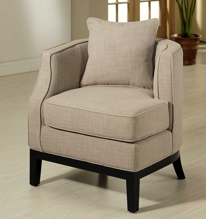 Eve Beige Fabric Corner Chair