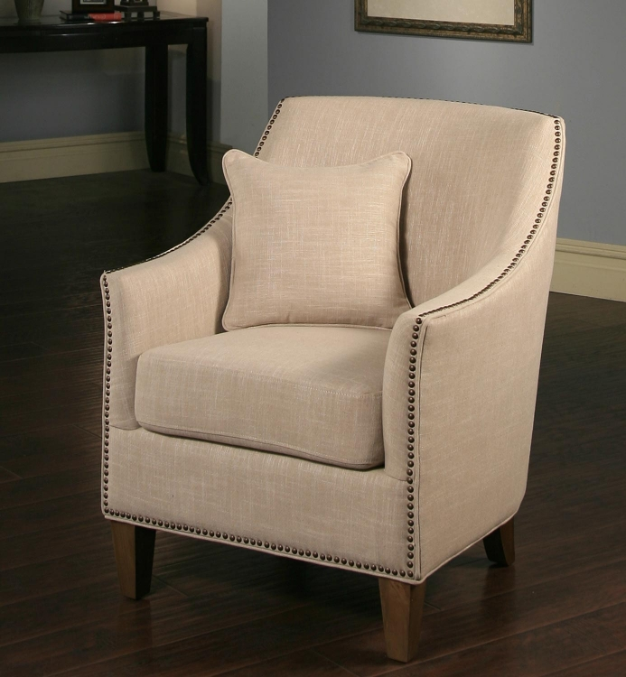 Lily Poly Nailhead Trim Armchair