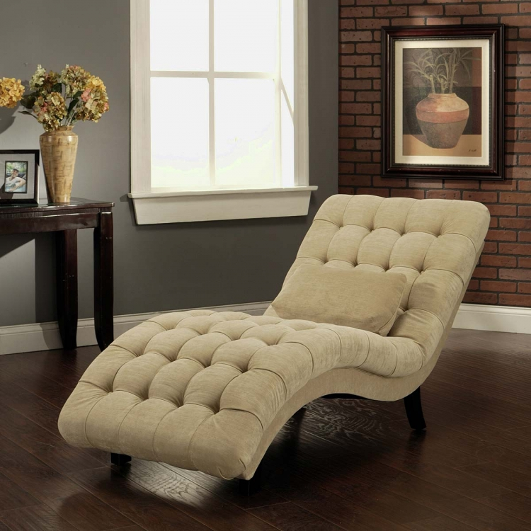 Soho Cream Fabric Chaise