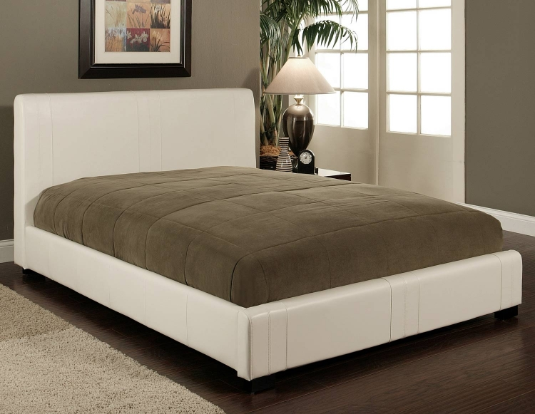 Malibu White Bi-cast Leather Bed