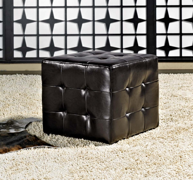 Bentley Bonded Leather Cube Ottoman