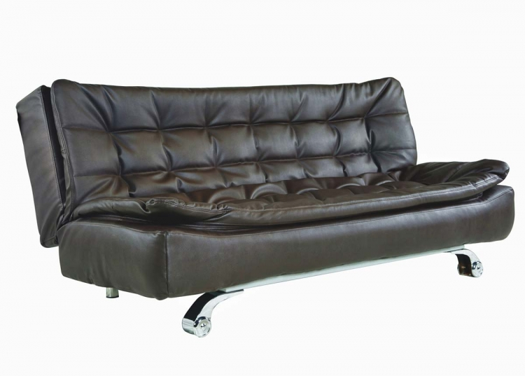 Modena Dark Brown Convertible Euro Sofa Lounger - Abbyson Living