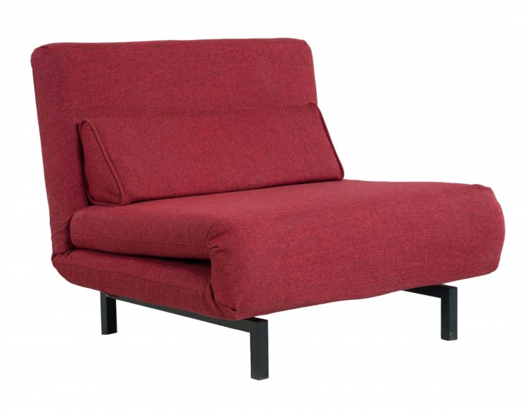 Verona Red Fabric Convertible Chair / Bed