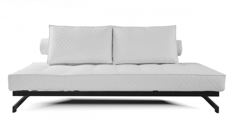 Geneva White Convertible Euro Sofa Lounger - Abbyson Living
