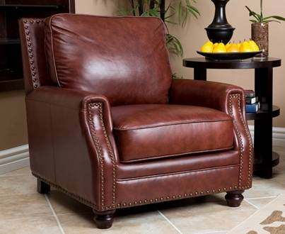 Livingston Top Grain Leather Arm Chair