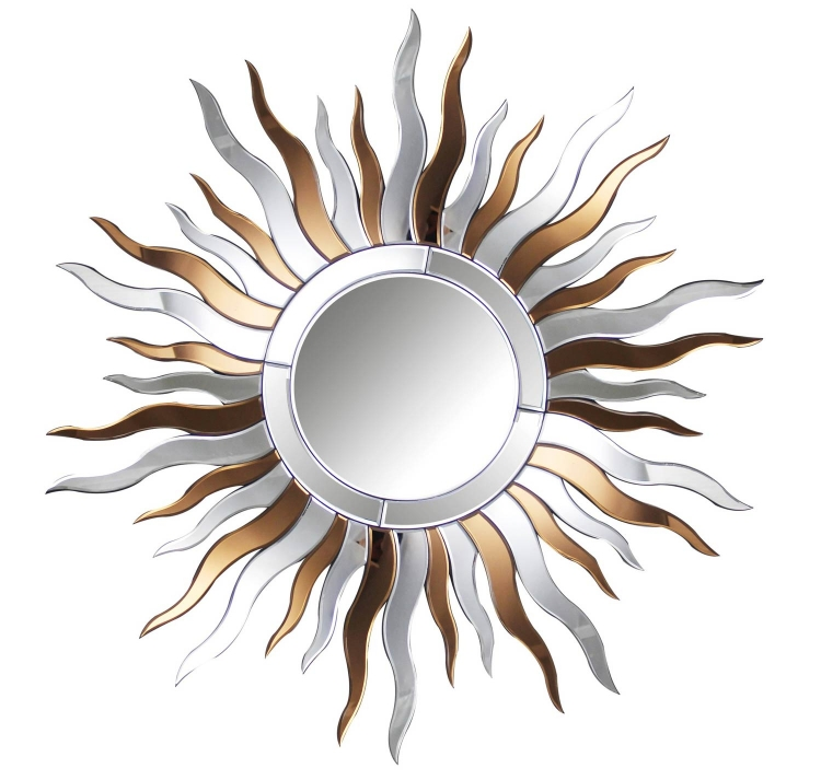 Ava Round Wall Mirror - Silver/Copper