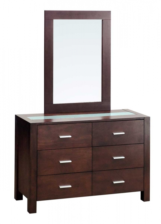 Hamptons 6 Dresser with Mirror