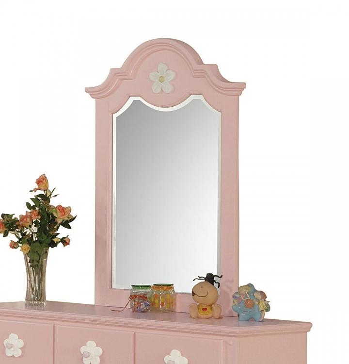 Floresville Mirror - Pink (White Flower)