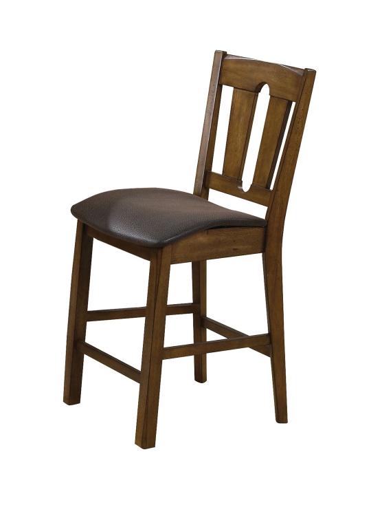 Morrison Counter Height Chair - Brown Vinyl/Oak