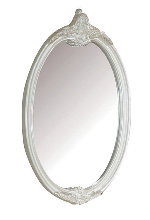 Pearl Mirror - Oval - Pearl White/Gold Brush Accent