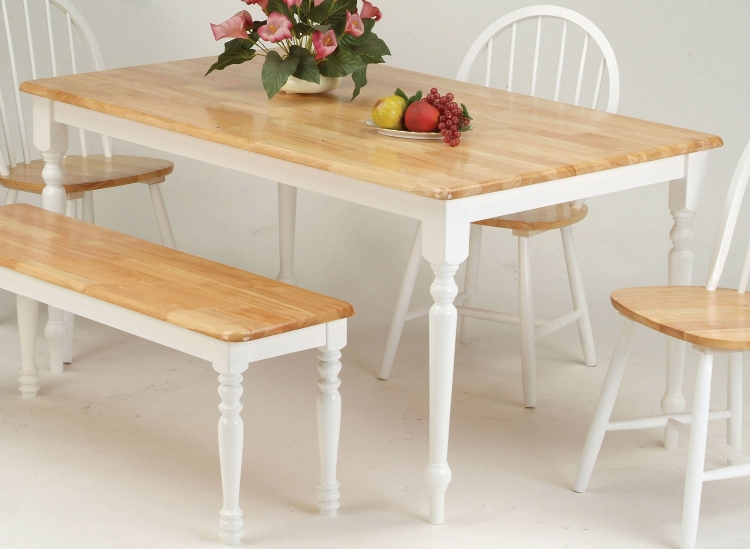 Farmhouse Dining Table - Natural/White