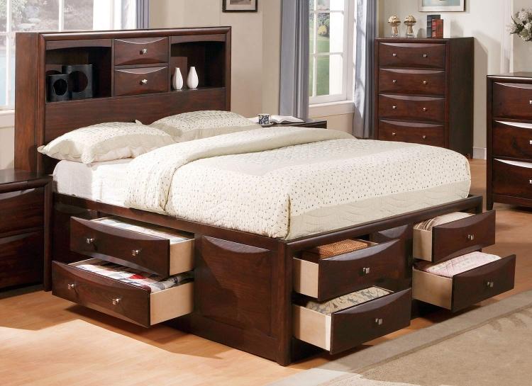Manhattan Bed with Storage - Espresso