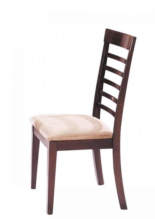 Martini Side Chair - Brown Cherry/Chrome