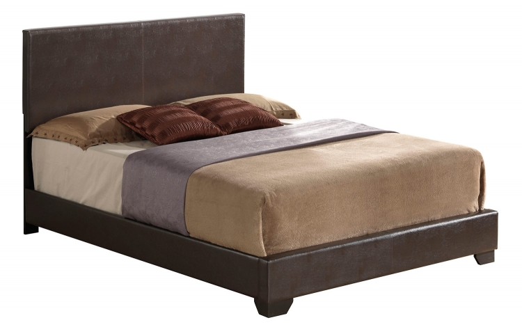 Ireland III Panel Bed - Brown Vinyl