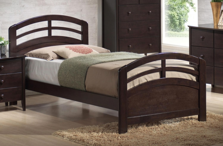 San Marino Bed - Dark Walnut