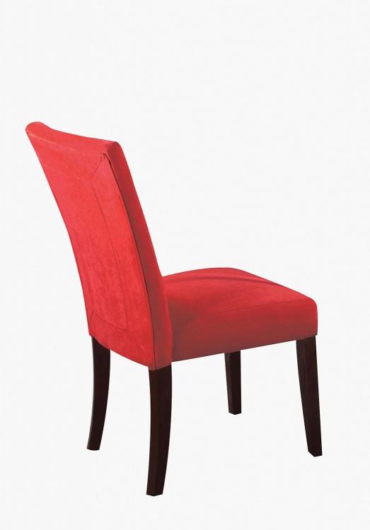 Baldwin Side Chair - Red/Walnut