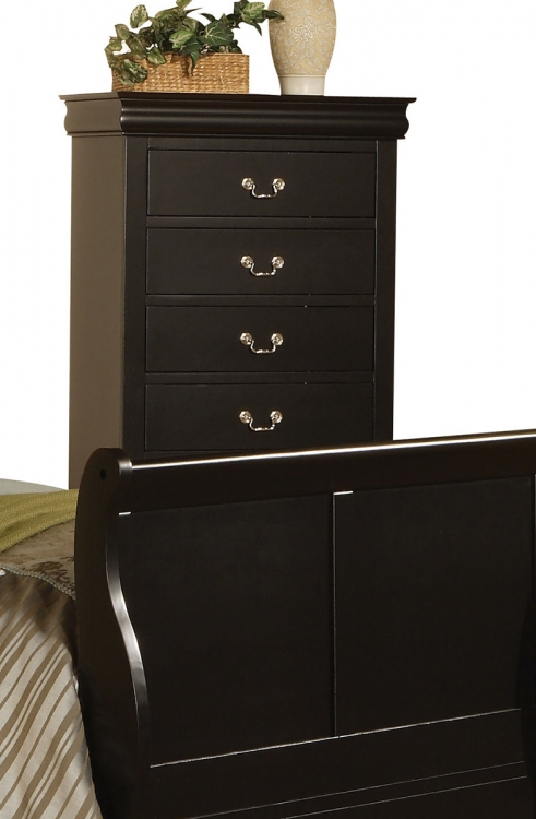 Louis Philippe III Chest - Black