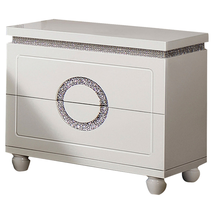 Vivaldi Nightstand - White High Gloss