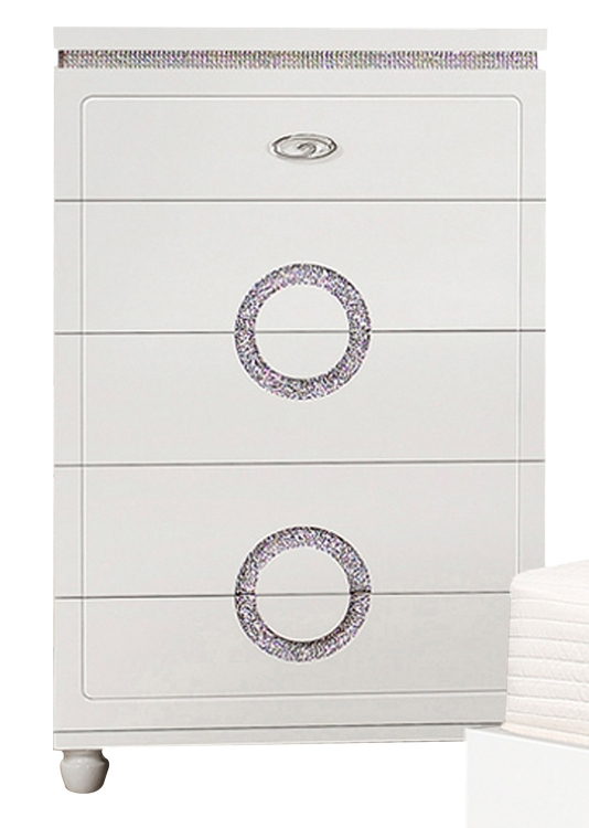 Vivaldi Chest - White High Gloss