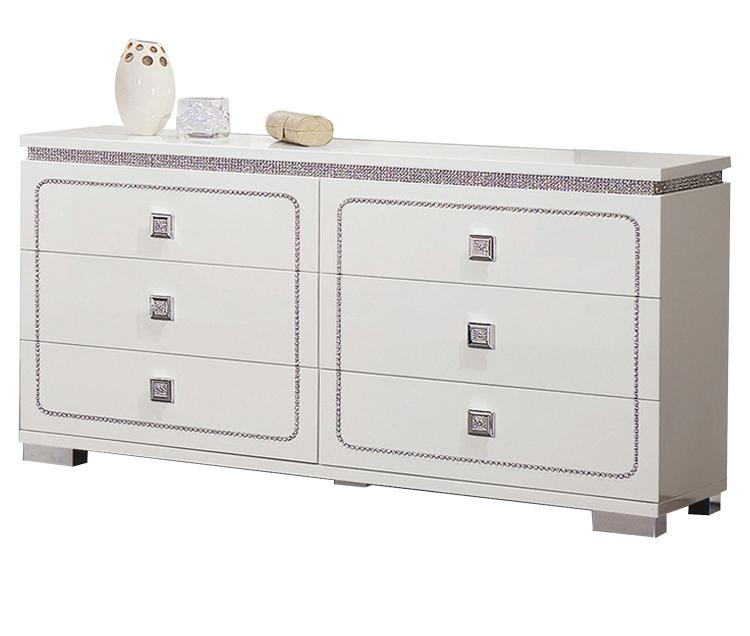 Valentina Dresser - White High Gloss