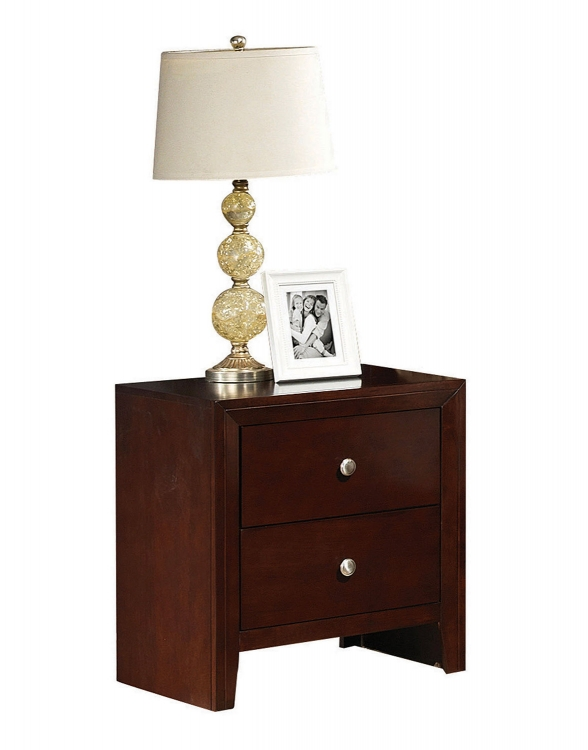 Ilana Nightstand - Brown Cherry