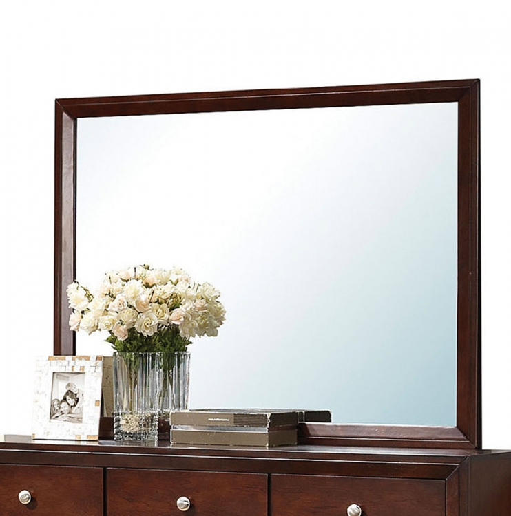 Ilana Mirror - Brown Cherry