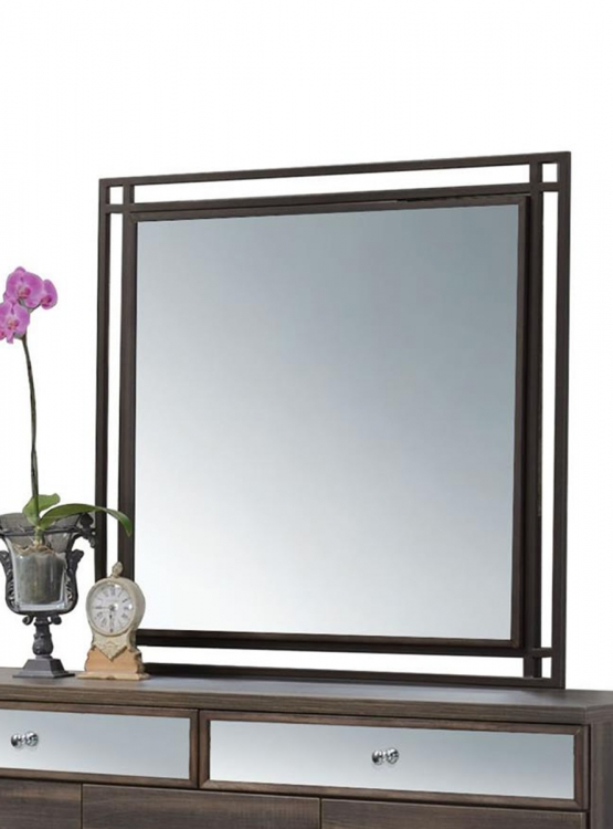 Adrianna Mirror - Walnut