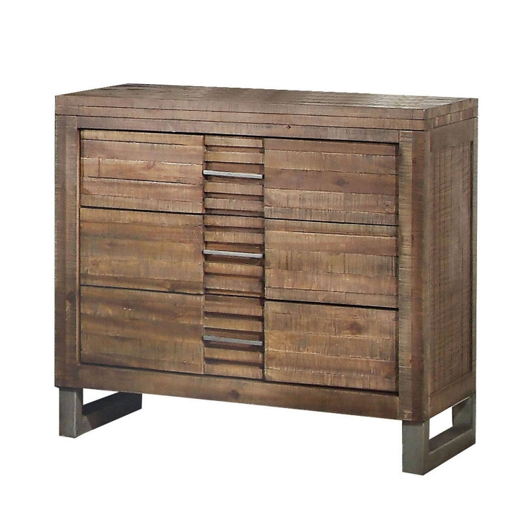 Andria Nightstand with 3 Drawer - Reclaimed Oak