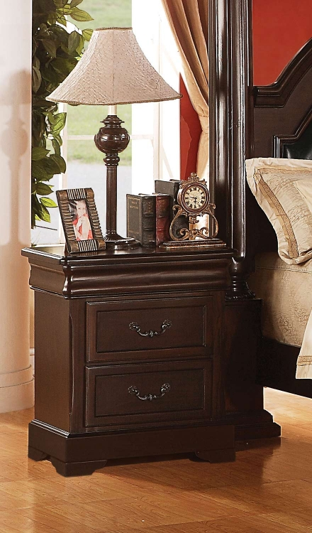 Roman Empire II Nightstand - Cherry