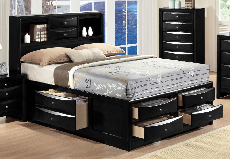 Ireland Bed with Storage - Black