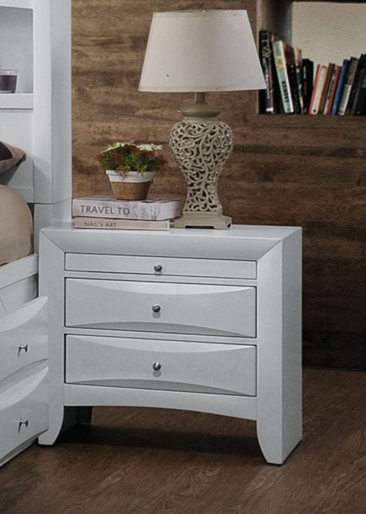 Ireland Nightstand - White