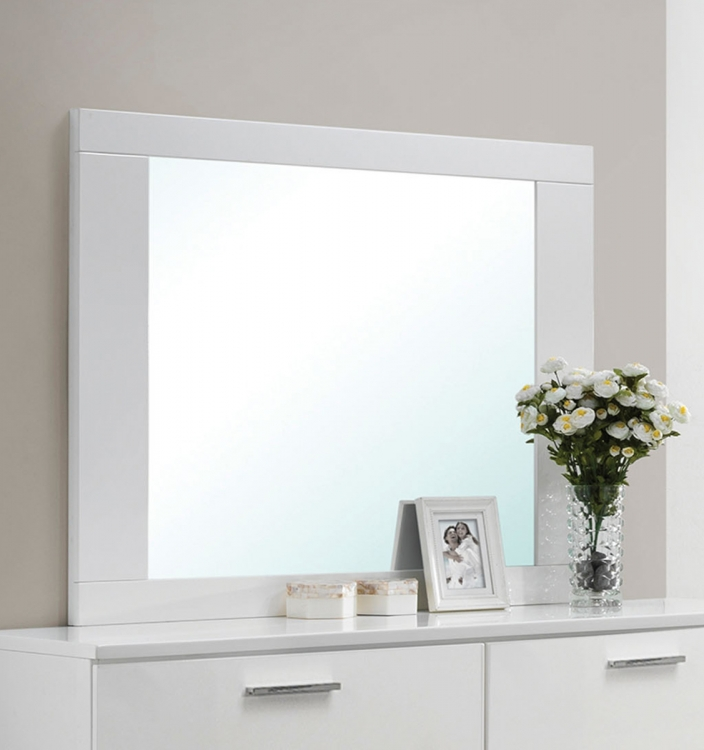 Lorimar Mirror - White/Chrome Leg
