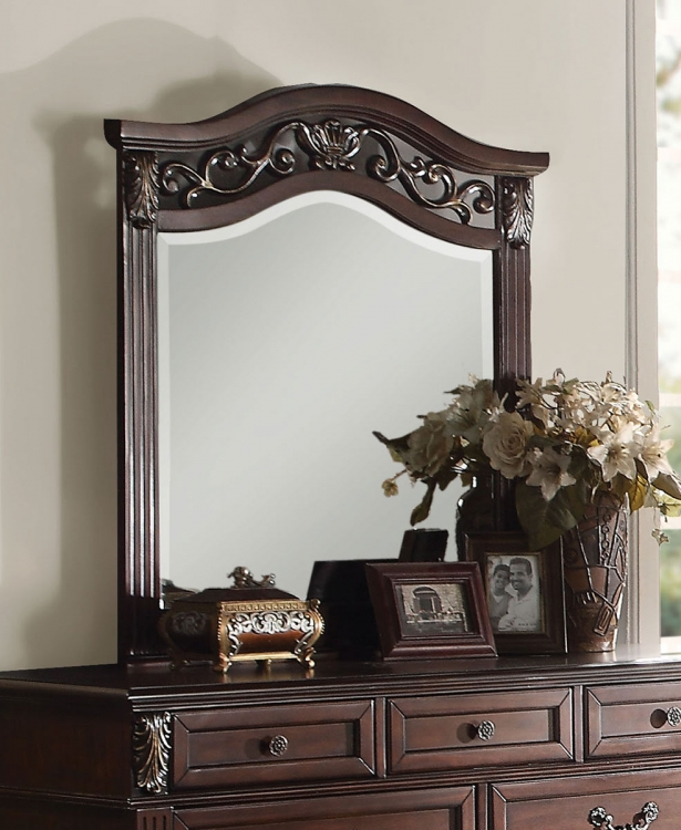 Manfred Mirror - Dark Walnut