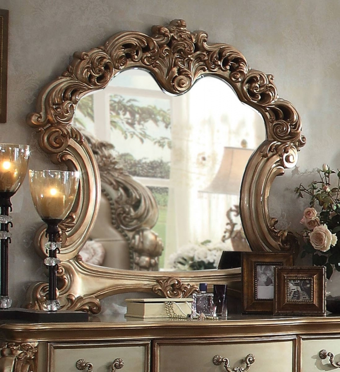 Vendome Mirror - Gold Patina/Bone