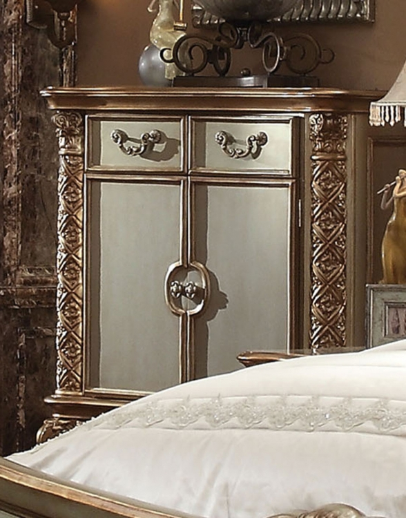 Vendome Chest - Gold Patina/Bone