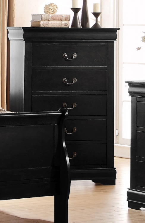Louis Philippe Chest - Black