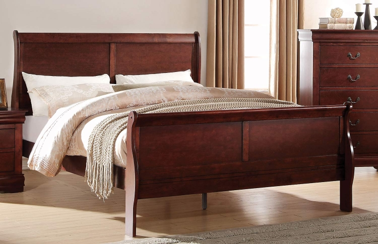 Louis Philippe Bed - Cherry
