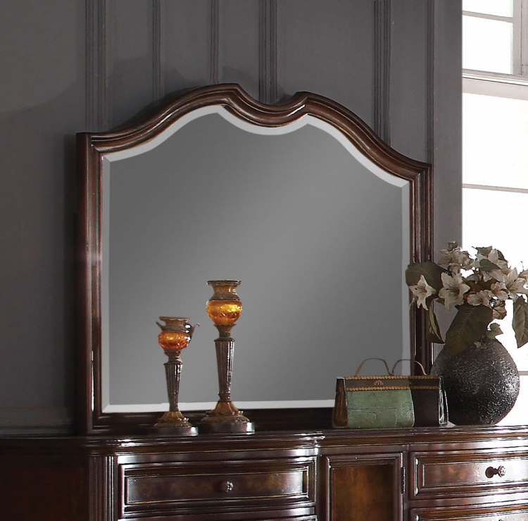 Azis Mirror - Dark Walnut