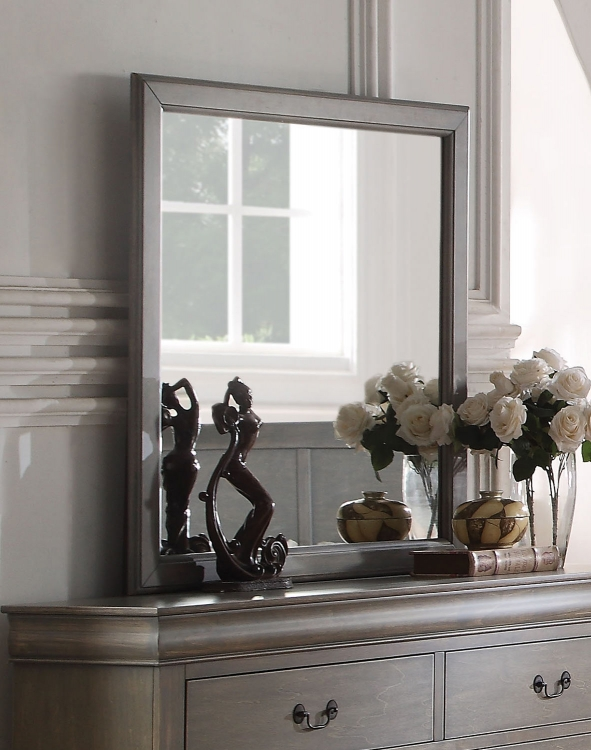 Louis Philippe Mirror - Antique Gray
